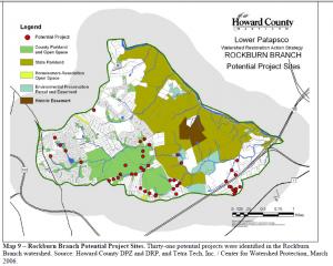 Rockburn Branch Potential Project Sites 2006